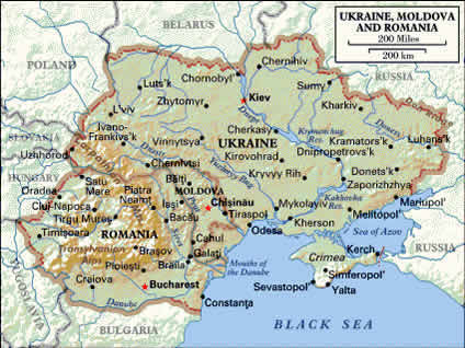 Ukraine Maps with Links to Other Maps of Ukraine