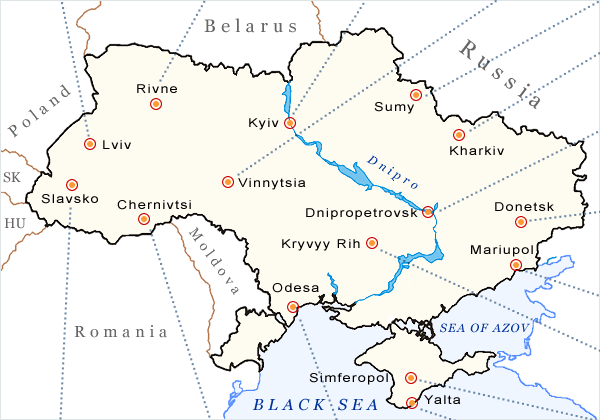 Ukraine Weather Map Forecasts And Climate Information - Map of ukraine